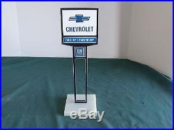 Vintage Chevrolet GM Dealers Sign 2 sided Promotional Advertising Salesmans