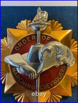 Vintage Chevrolet Order of Marching Chevroliers 1930 Original Car Badge NOS #2