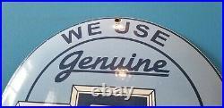 Vintage Chevrolet Porcelain Gas Trucks Service Sales Dealership Dome Parts Sign