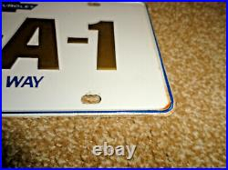 Vintage Chevrolet U-s-a-1 All The Way License Plate Original Steel Small Slots
