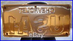 Vintage Chevrolet USA-1 License Plate USA1 NOS Large with Box