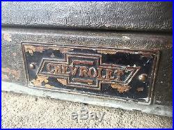 Vintage Chevy Dealership parts Cabinet 10 Drawer 1940's Automotive Antique