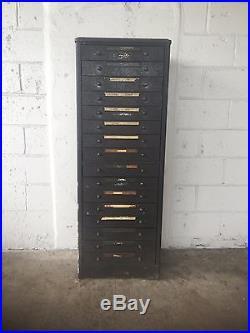 Vintage Chevy Dealership parts Cabinet 16 Drawer 1940's Automotive Antique Oil