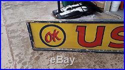 Vintage Chevy OK Used Cars Dealership Sign, not porcelain