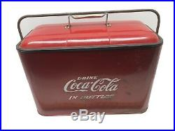 Vintage Coca-Cola Cooler With Tray Opener Car Show Ready Pepsi 7-Up Dr. Pepper