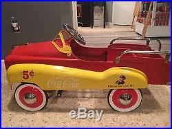 Vintage Coca-Cola Pedal Car Great Condition