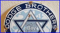 Vintage Dodge Brothers Car Company Sales & Service Porcelain Metal Sign