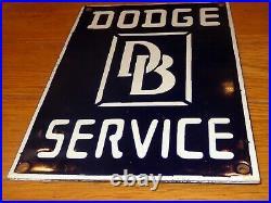 Vintage Dodge Brothers Sales & Service 12 Porcelain Metal Gasoline Oil Car Sign