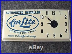 Vintage Dualite Car Lite Advertising Clock Ford Motor Co. Lighted Dealer Sign