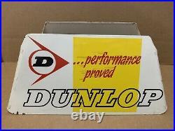 Vintage Dunlop Tire Stand Metal Display Sign Garage Gas Oil Car Truck Decor 3