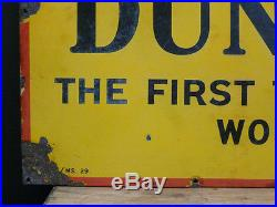 Vintage Dunlop tyres enamel garage sign