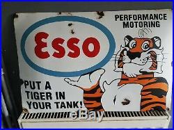 Vintage ESSO SIGN, enamel