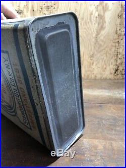 Vintage Early Socony Kerosene Tin Oil One 1 Gallon Can Car Garage Gal Quart Half