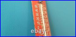 Vintage Esso Gasoline Porcelain Gas Auto Oil Drop Sales Ad Sign On Thermometer
