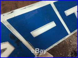 Vintage FIAT dealership 12'x2' Large Vertical Car Dealership Lighted Sign Panel