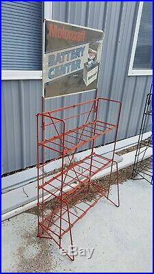 Vintage FORD Motorcraft Battery Display 1970's RED