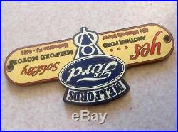 Vintage FORD V8 Dealers License Plate Topper/bumper Attachment 1933 1936 1940