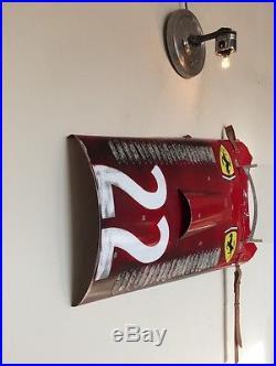 Vintage Ferrari Grand Prix Race Car wall art Long Hood Panel Section replica #22