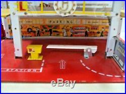 Vintage Fj Shell Oil Service Station & Parking Garage Folding Toy Car Playset