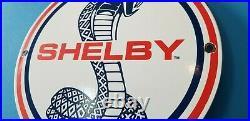 Vintage Ford Automobile Porcelain Gas Service Shelby Gt Pump Plate Sign