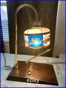 Vintage Ford Dealer Desk Lamp Tiffany Style Plastic Shade From 1970s. (ALST)