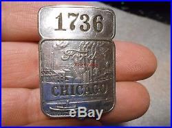 Vintage Ford Employee Metal Badge Chicago