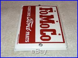 Vintage Ford Genuine Parts Fomoco 7 Porcelain Metal Car Truck Gasoline Oil Sign