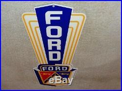 Vintage Ford Jubilee Car Truck Dealer Sales 13 Metal Gasoline & Oil Sign! Henry