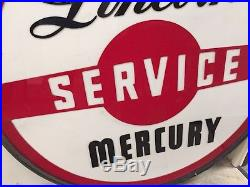 Vintage Ford Lincoln Mercury Sign NOS in Crate Non Porcelain Gas Oil Dealership
