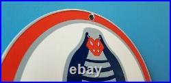 Vintage Ford Motor Co Porcelain Cobra Sales Service Gas Automobile Old Car Sign