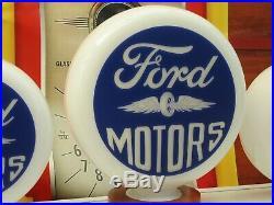 Vintage Ford Motors Gasoline Style Petrol Pump Globes Gas Pump Globe Classic Car