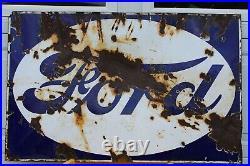 Vintage Ford Sign. Original. 39''x25'