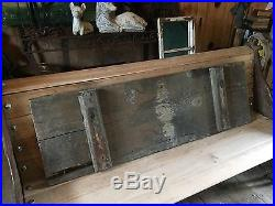 Vintage French Wooden Advertising Sign Car Garage Repair Sign