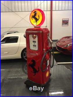 Vintage GAS PUMP Ferrari Style Showroom Display Dealer Sign Sign Garage Art