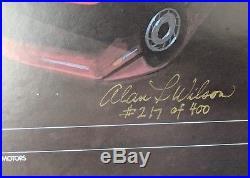 Vintage GM Dealer Showroom Sign 40x20, Signed by Artist #217/400 (Corvette, etc)