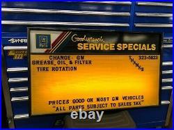 Vintage General Motors Service Center Lighted Sign GM Chevrolet Advertising