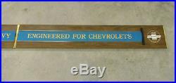 Vintage Genuine Chevrolet GM Accessories Showroom Dealership Dealer Signs Pair