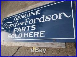Vintage Genuine Ford Fordson Parts Sold Here Porcelain Sign