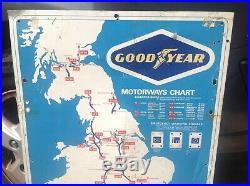 Vintage Goodyear Tin Sign Not AA RAC Not Enamel
