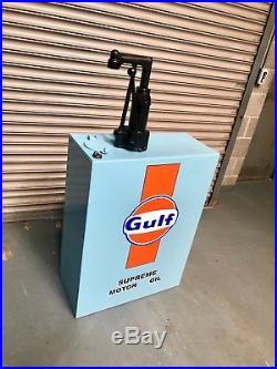 Vintage Gulf Oil Pump, Man Cave, Games Room