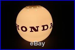 Vintage HONDA 1970's Japanese car bike dealer lamp sign rare retro man cave JDM