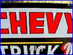 Vintage Hand Painted CHEVY C-10 Truck Car Gas Sign GMC Chevrolet Mechanic Shop