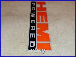 Vintage Hemi Powered Dodge Chrysler 14 Metal Car, Truck, Gasoline & Oil Sign