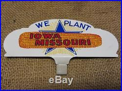 Vintage Iowa Missouri Corn Car Tag Sign Antique Old Farm Farmer NOS RARE 7610