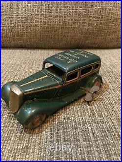 Vintage Japan Tin 1934 Worlds Fair Ford Advertising Sign Car Windup Prewar