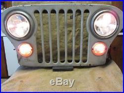 Vintage Jeep Grille Light Lamp Art Antique Automotive Headlight Parklight 9794