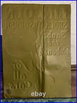 Vintage Lincoln Shock Absorber 1920s Sign