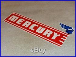 Vintage Mercury Car & Truck Dealer Die-cut 14 Metal Service Gasoline & Oil Sign