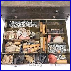 Vintage Metal Carter Carburetor Genuine Parts Cabinet Auto Store Display Drawers