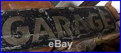 Vintage Metal Ford Auto Garage Repair Shop Sign Bay City Mich Tobias Garage